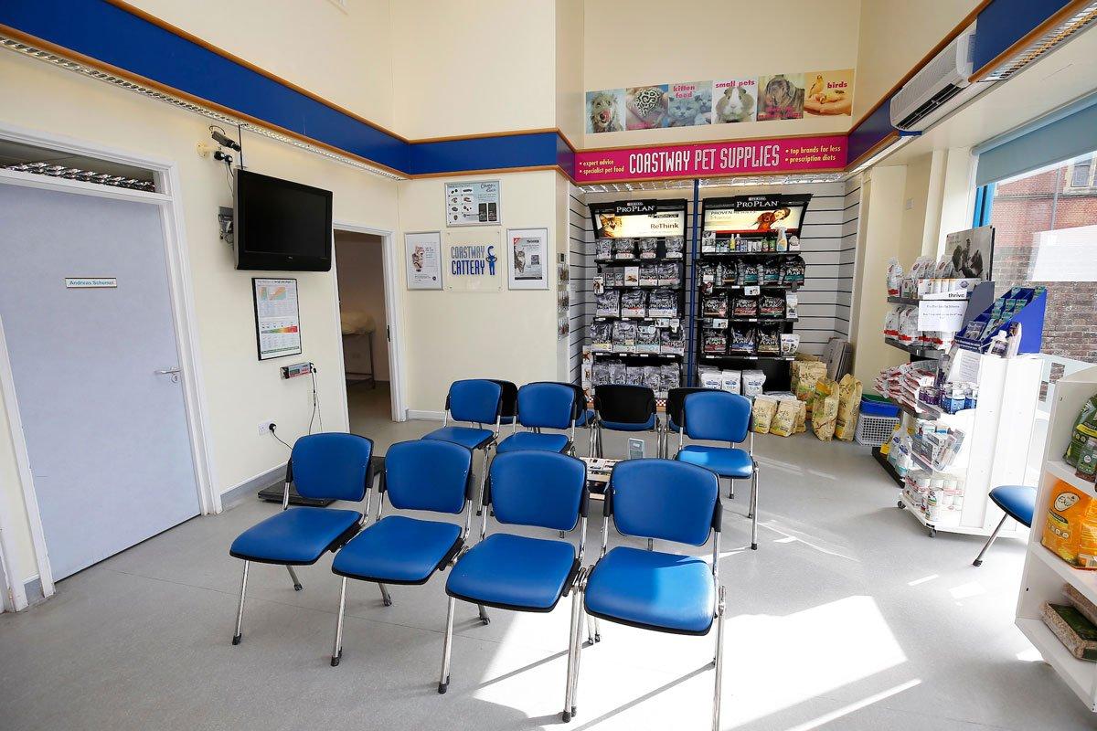 Coastway vets Reception Kemp Town, Brighton