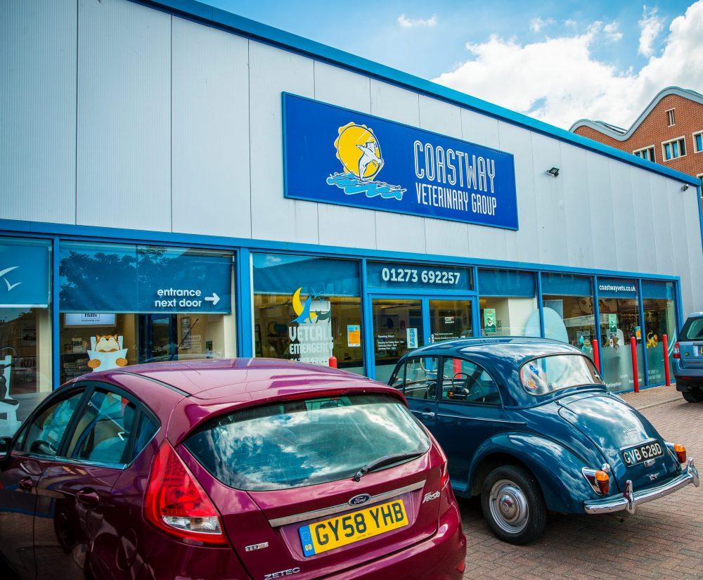 Carpark outside Coastway Vets Brighton